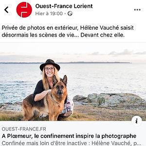 Un article du Ouest France sur les photos de scène de vie pendant le confinement, qui m'inspire