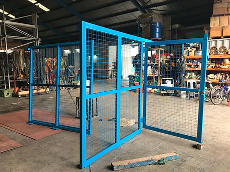 Fabricated Chemical Storage Fencing