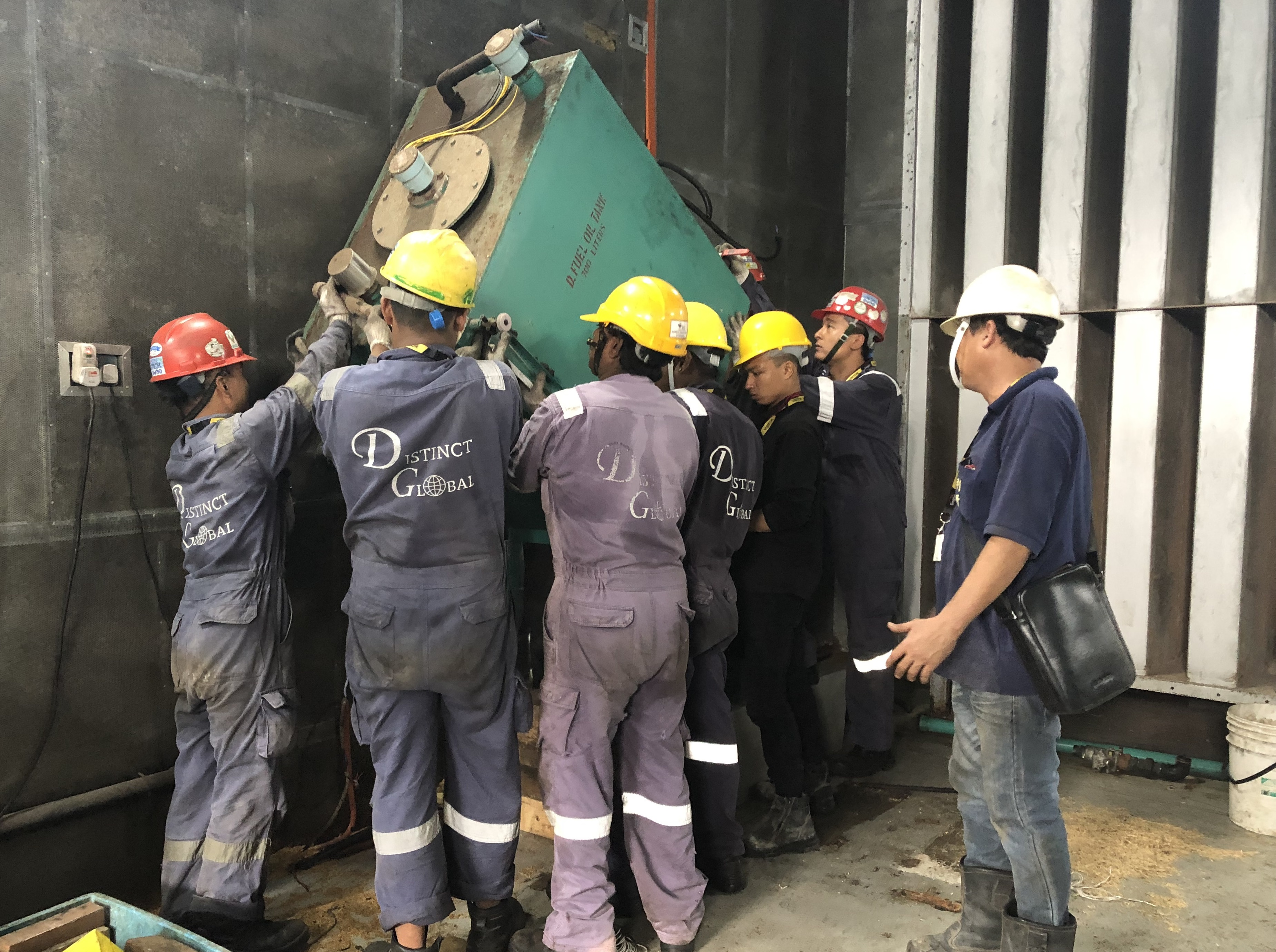 Removal of oil tank.