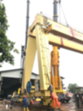 Removing Outdoor 30+30 Ton Gantry  Crane