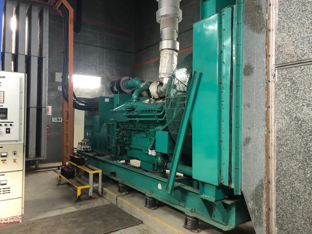 Original Generator that is in the genset room.
