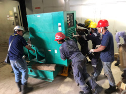 Removal of generator.