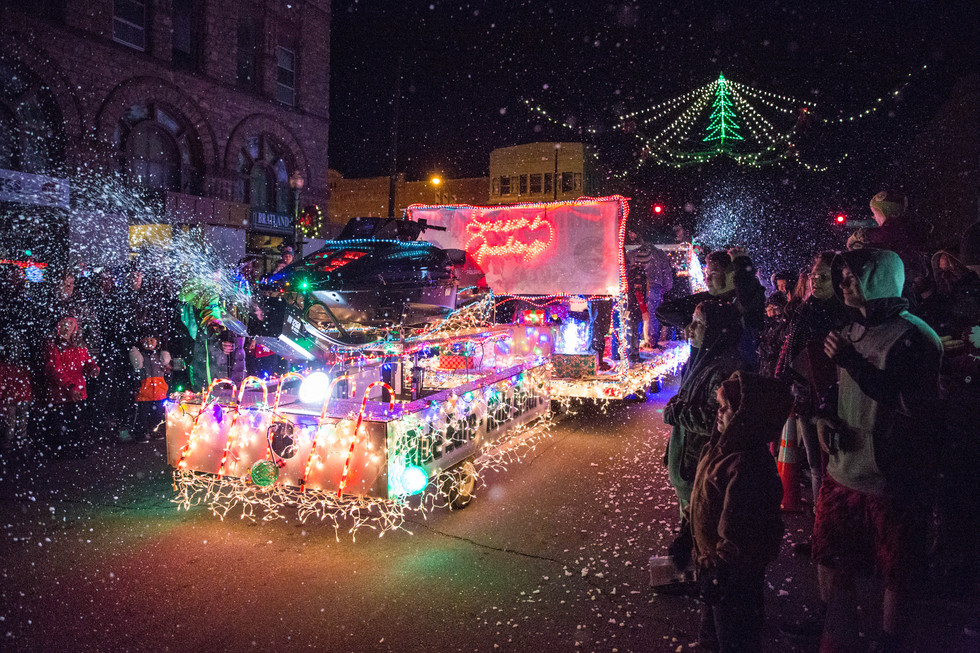 Businesses, organizations create floats for annual Holiday Lighted Parade