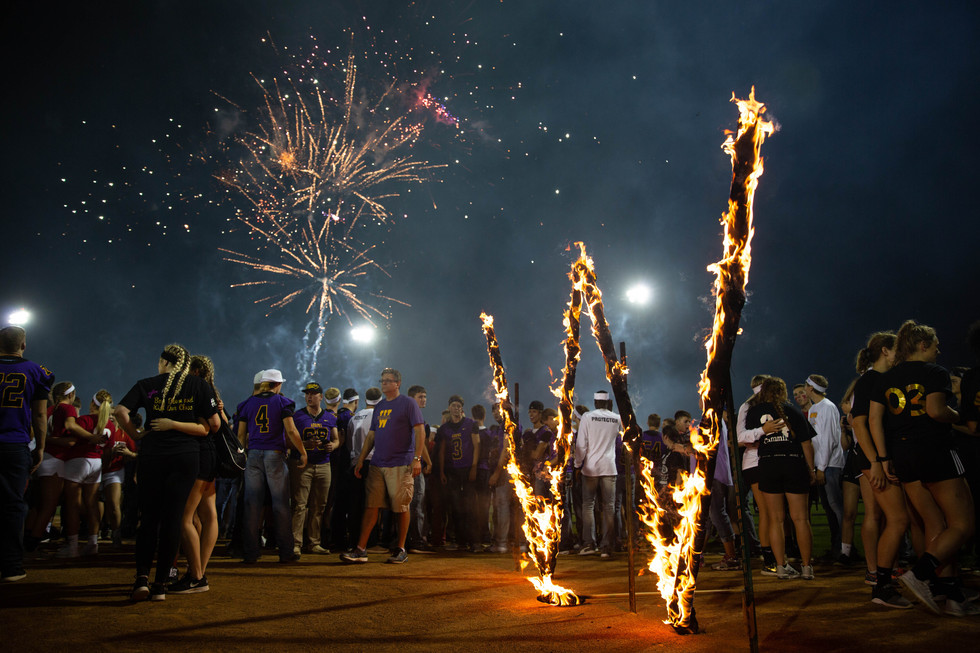 Annual 'Burning of the W' kicks off Homecoming festivities