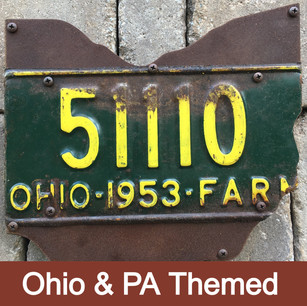 """Measuring 11.19"""" across, these pieces are made of 3/4' hardwood and heavy gage steel. Add an opener to the front of the design. (note: don't display in direct elements outside)"""