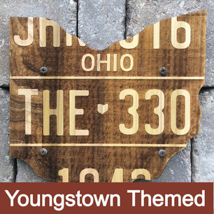 These Youngstown themed pieces make great gifts. Choose to add a rustic cast iron or stainless steel opener to the front!