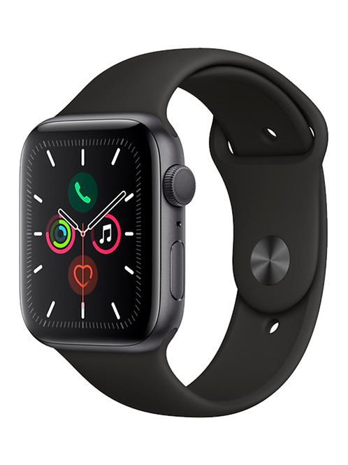 Apple Watch Series 5 (solo GPS, 44 mm, aluminio gris espacial, correa deportiva)