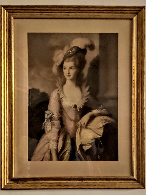 Antique Marie Antoinette Framed Lithograph