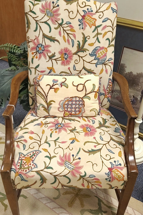 Embroidered Chair with Matching Pillow