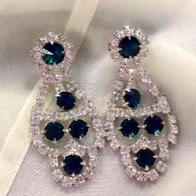 Emerald Colored Drop Earrings