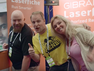 Gibraltar Laserfiche Booth at Dattocon!