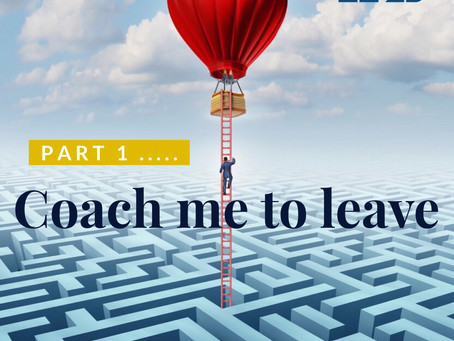 Coach Me To Leave (Part 1)-How to design your 'Exit Strategy' even if you don't think you need one!