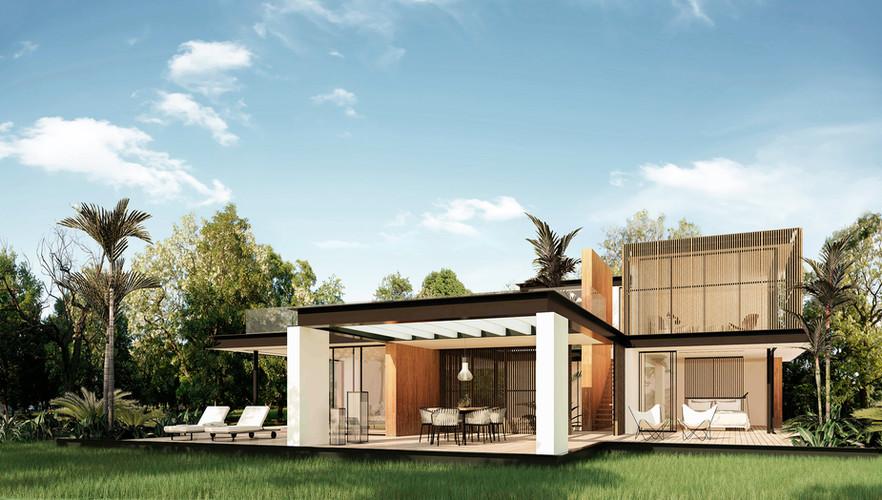 Villa Flor. Render.-Arquitectura.-3D x.j
