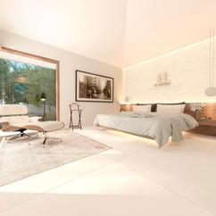 dormitorio 3 editado pared blanca luces