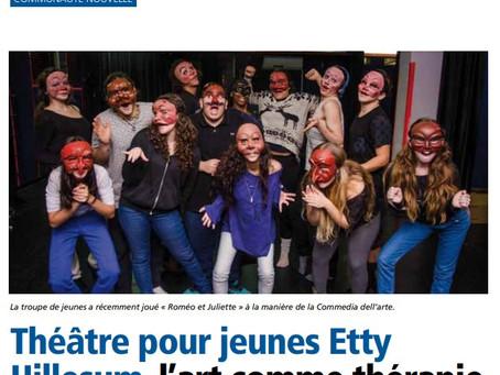 Théâtre pour jeunes EttyHillesum, l'art comme thérapie