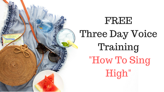 """""""How to Sing High"""" Free Voice Training!"""