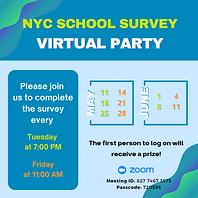 NYC School Survey 2021 Zoom Party