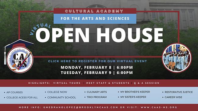 CAAS Virtual Open House- February Editio
