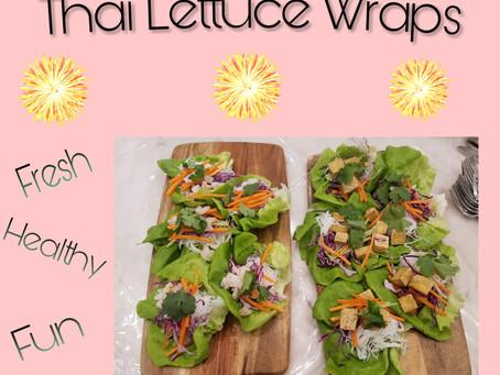 Thai Lettice Wraps are delicious and fun to make!