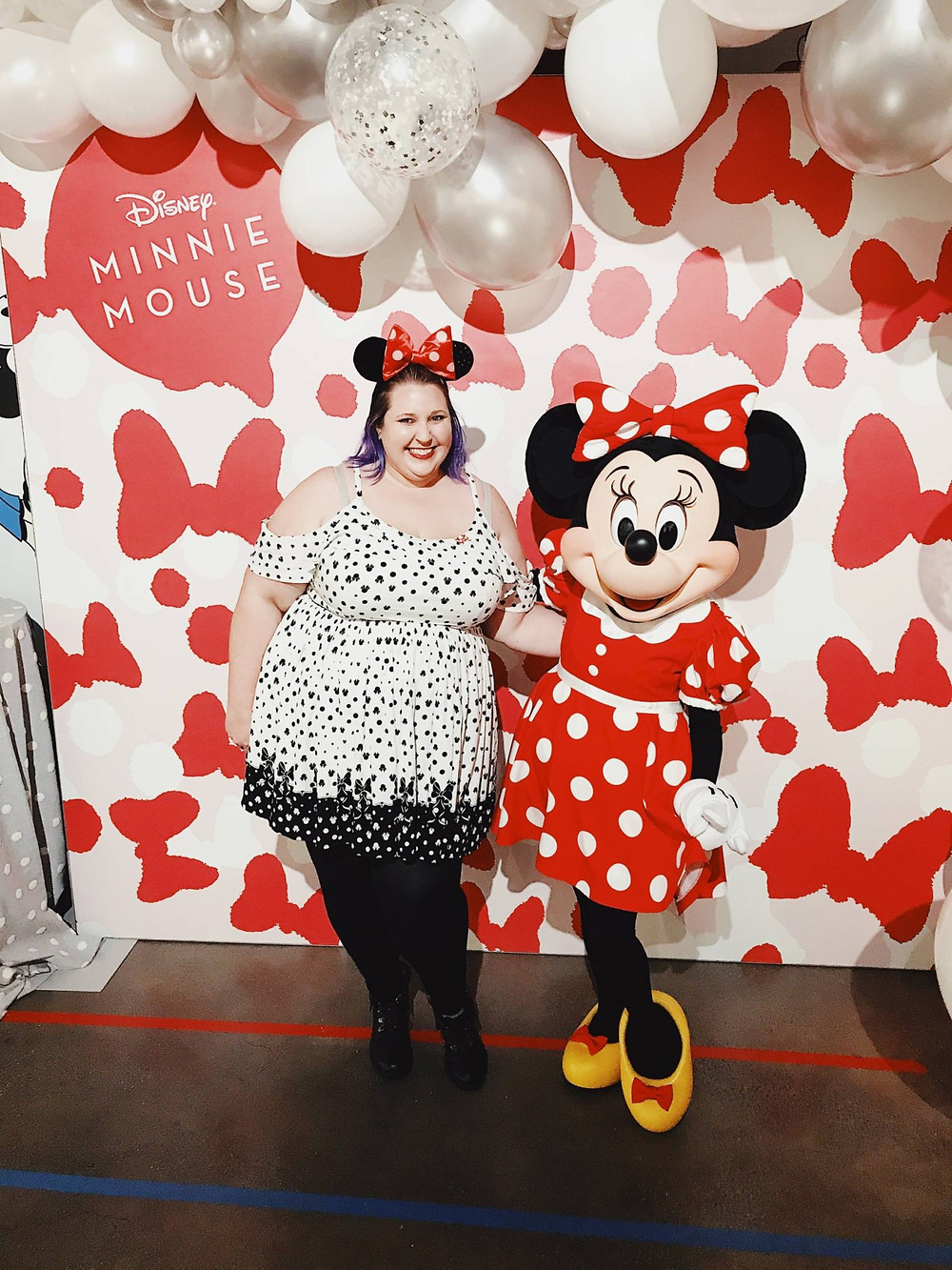 Misti Michelle at the Mickey: True Original Exhibit with Minnie Mouse