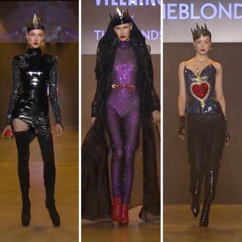 Disney Villains x The Blonds NYFW