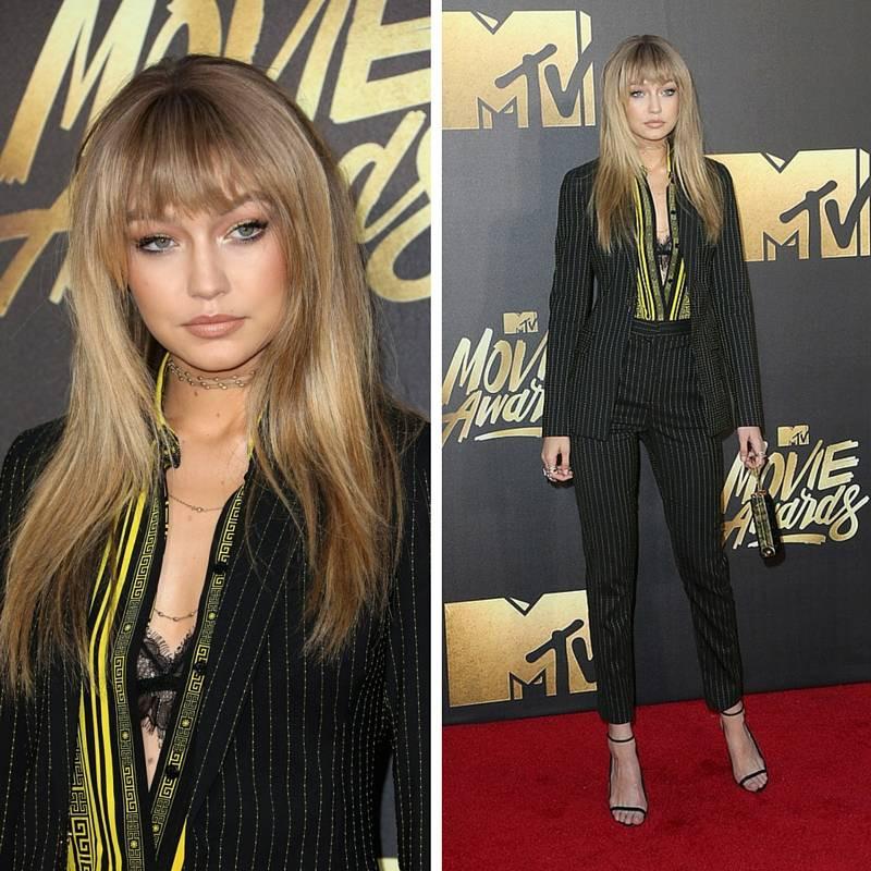 Gigi+Hadid+Versace+MTV+Movie+Awards