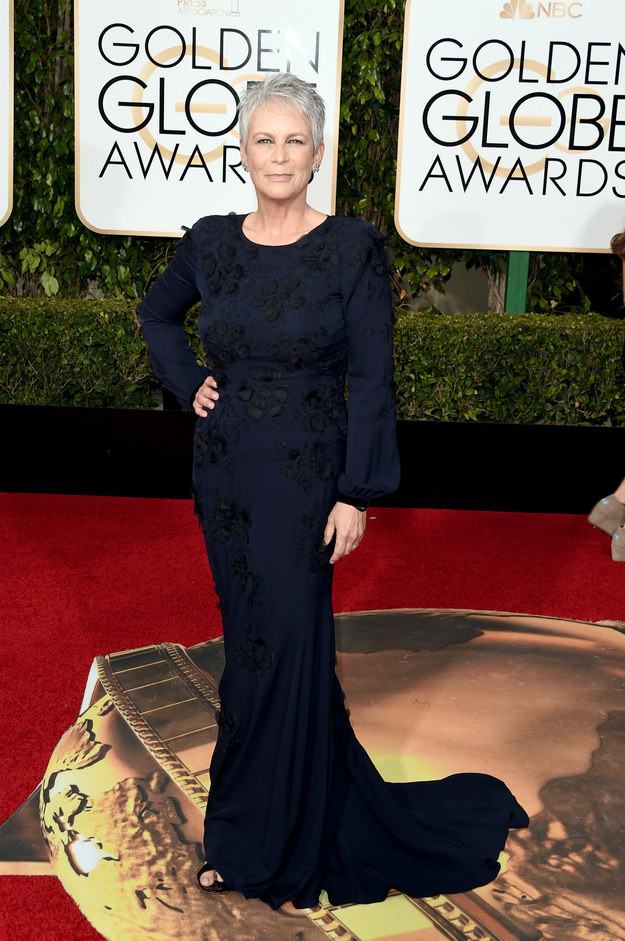 Jamie Lee Curtis+2016+Golden+Globes