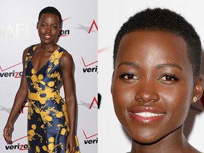 Lupita Nyong'o Sparkles in Carolina Herrera and Jamie Wolf