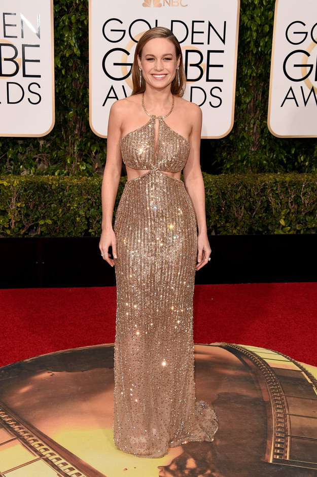 Brie Larson+Golden+Globes+2016