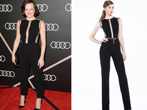 Elisabeth Moss in Georges Hobeika at Golden Globe Pre-Party
