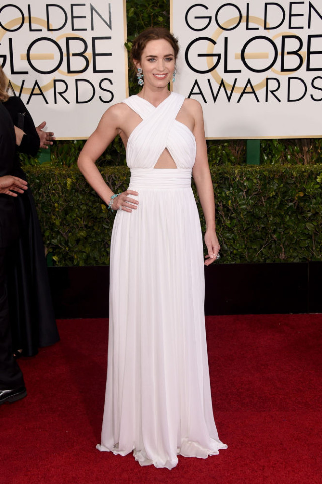 Emily Blunt in Custom Michael Kors