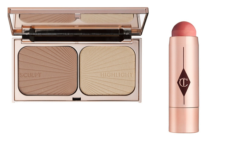 Lily+James+Charlotte+Tilbury+Highlight