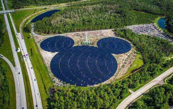 Mickey shaped solar power at Walt Disney World