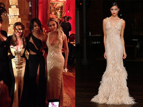 Beyonce Sparkles in a Naeem Khan Gown
