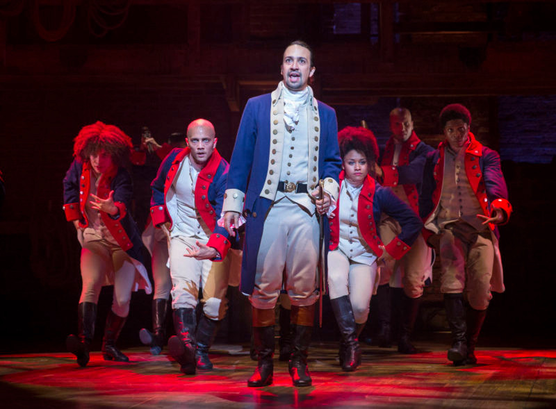 "PHOTO MOVED IN ADVANCE AND NOT FOR USE - ONLINE OR IN PRINT - BEFORE AUG. 16, 2015. -- Lin-Manuel Miranda in the title role of the musical ""Hamilton"" at the Richard Rodgers Theatre in New York, July 11, 2015. Hip-hop and musical theater seemingly have little overlap, but that is the space in which Miranda lives, the space that birthed ?Hamilton,? which opened last week to some of the strongest reviews in years. (Sara Krulwich/The New York Times)"