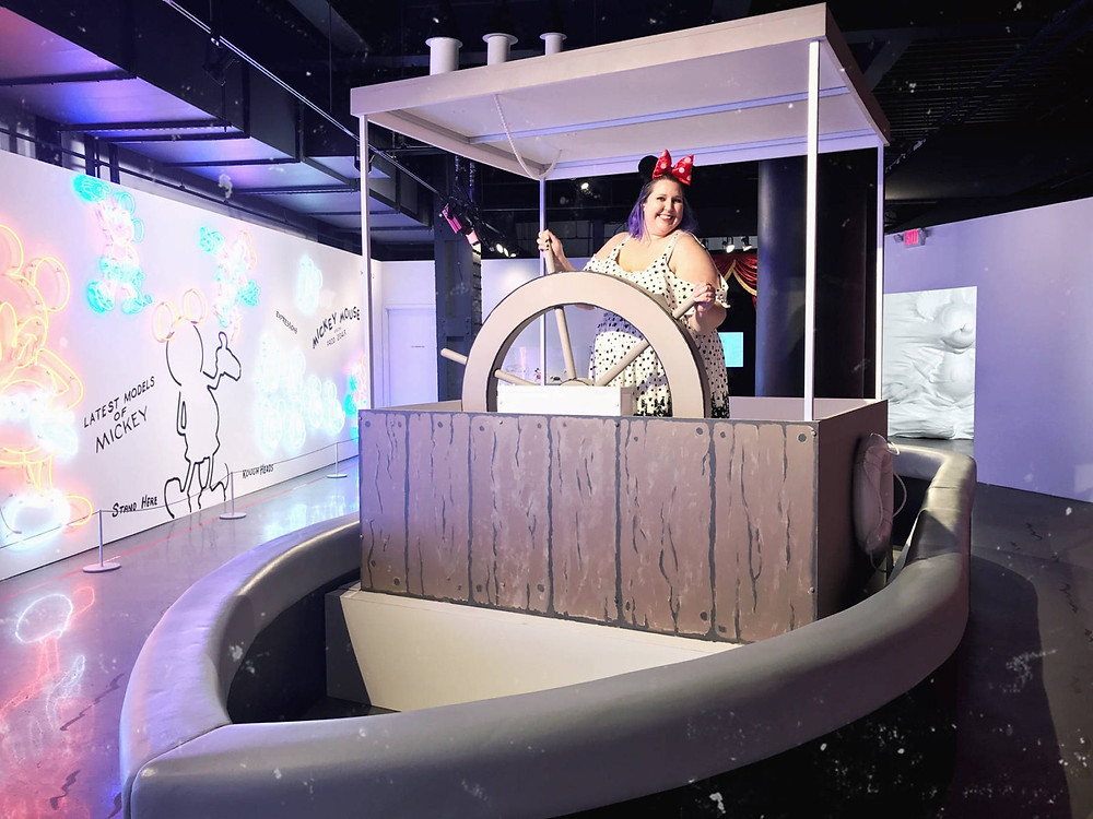 Misti Michelle at the Mickey: True Original Exhibit.