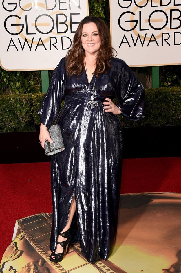 Melissa McCarthy+Golden+Globes+2016
