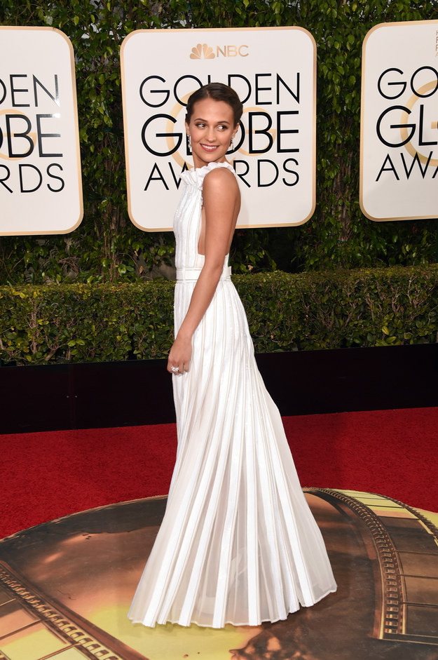 Alicia Vikander+Golden+Globes+2016