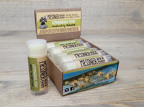 Lemongrass Mint Lip Balm Box of 12  (wholesale $2.50 ea, retail $5.00 ea)