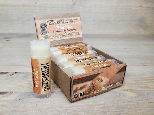 Ginger Peach Honey Lip Balm Box of 12  (wholesale $2.50 ea, retail $5.00 ea)