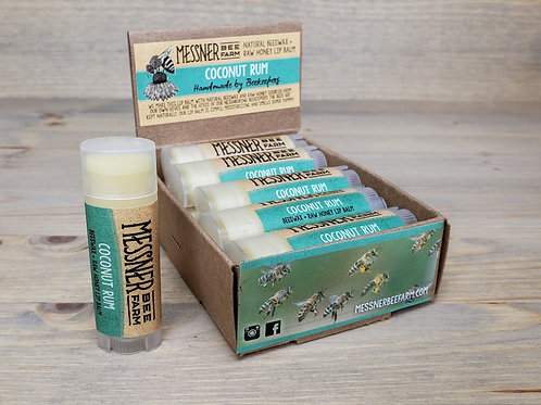 Coconut Rum Lip Balm Box of 12  (wholesale $2.50 ea, retail $5.00 ea