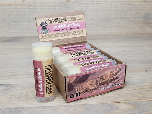 Lavender Lemonade Lip Balm Box of 12  (wholesale $2.50 ea, retail $5.00 ea)