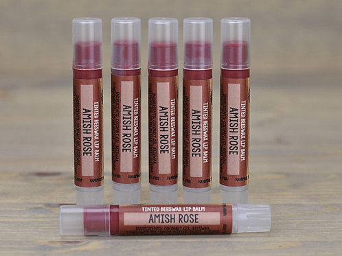 Amish Rose Lip Tint Box of 15  (wholesale $2.50 each, retail $5.00 ea)