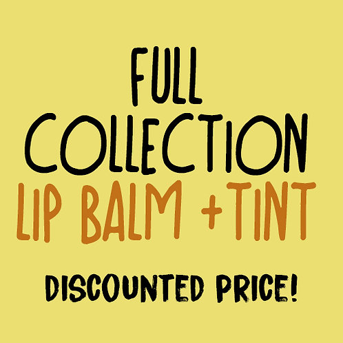 Full Collection! Lip Balm and Tint  (wholesale $2.50 ea, retail $5.00 ea)