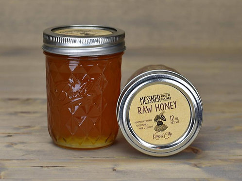 12oz Raw Honey (12 Jars, wholesale $7ea - Retail $12ea)