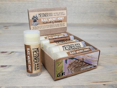 Black Walnut Honey Lip Balm Box of 12  (wholesale $2.50 ea, retail $5.00 ea)