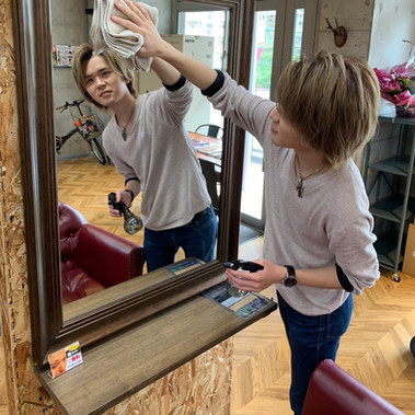 鏡を一番綺麗にします