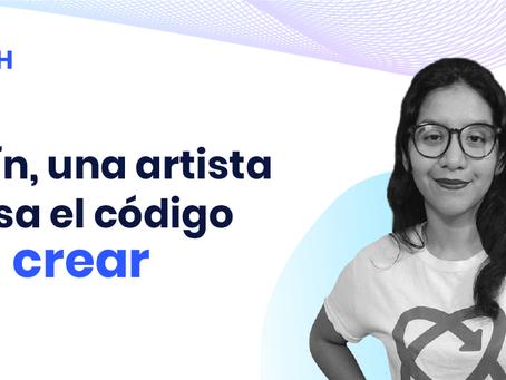 Jazmín, una artista que usa el código para crear