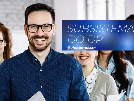 Quais são os subsistemas da Área de Departamento Pessoal?