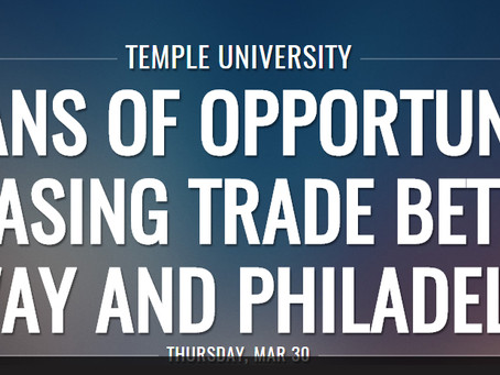 Increasing Trade between Norway and Philadelphia – Full Video of March 30 Report Launch Event